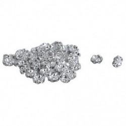2X (50 PCS gyűrű, 8 mm-es CZ strasszos fém gyöngyök ezüst Z8P4)