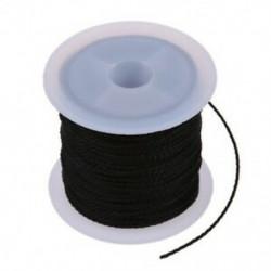 2X (tekercselt fekete viaszos pamut nyaklánc gyöngyök zsinór húros 1 mm HOT Q7O1)