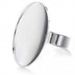 10 állítható ovális cabochon gyűrű tartó ezüst 18,3 mm V4E4 F5B9 D8U4