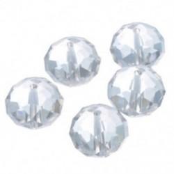 20 db tiszta kristályüveg csiszolt távtartó gyöngyök, 16 mm - Ékszerkészítés, DIY J1J1