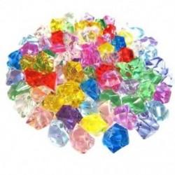 50 db vegyes színű, finom, geometrikus, szimulált jégkocka akril kicsi Pell L4F5