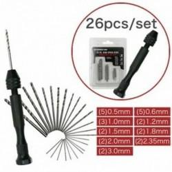Kézi csavarral felszerelt fúrószárak, DIY precíziós csavarkulcs-modell, mini kéz spirálhajtású O3Y3
