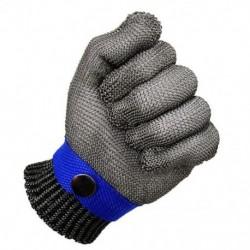 1X (vágásálló kesztyűk, rozsdamentes acél dróthálóból készült hentes biztonsági munka kesztyű Q7W0