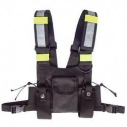 Walkie Talkie Vest fluoreszkáló mellény tárolótáska C7F3 mellkasi táska