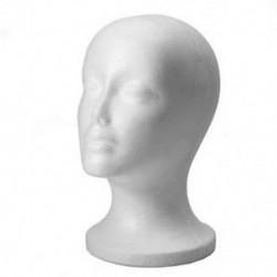 Női hab manöken fej modell kalap paróka kijelző állvány fehér H7X6 Y7D7
