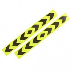 Fényvisszaverő autó figyelmeztető jel ragasztószalag sárga fekete 2 db O2W6