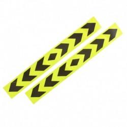 Fényvisszaverő autó figyelmeztető jel ragasztószalag sárga fekete 2 db C1F9