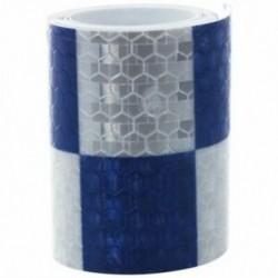 1M fényvisszaverő biztonsági figyelmeztető szembetűnő szalagmatrica, fehér   kék B5R7