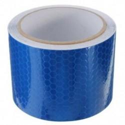 5 cm x 3 m szalag figyelmeztető szalag visszaverő szalag biztonsági szalag, kék E7B6