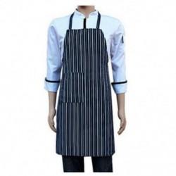 1X (vízálló Bib kötény nejlon kék és fehér csíkos étterem Q8Z6)
