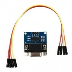 MAX3232 RS232 soros port a TTL átalakító modulhoz DB9 csatlakozó W / 4 ugrás C D8F4