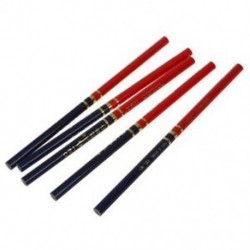 Zh 5 darabos fa, piros és kék jelöléssel rajzolt ács ceruza V5B7 G6A1