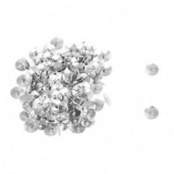 1X (100 db ezüst tónusú corkboard fotó nyomógombok Thumb Tacks N8Y4)