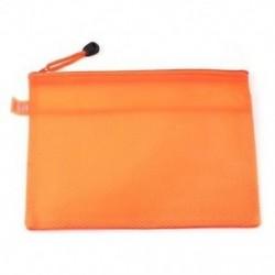 Narancssárga, vízálló, 2 rekeszes, nejlon táska cipzárral, A5 reszelő tasak, O1G4