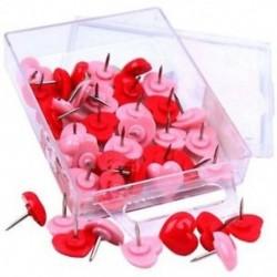 50 PCS szívdugós tű, piros hirdetőtáblák hüvelykujj-hátterek, rózsaszínű aranyos fali Tac I7O5