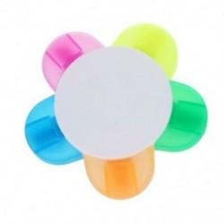 5 színű kiemelő tolljelölő toll levélpapír virág alakú (rózsaszín, sárga, b Y2O3