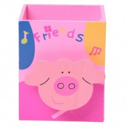 Rajzfilm P Pig Memo C fa asztali toll ceruza szervező kupatartó D2X8 C4H1