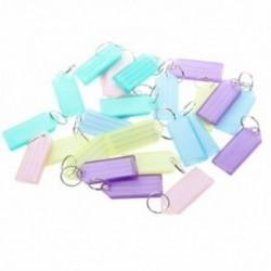 Színes műanyag névtábla jelvény C tartó kulcstartó 25 darab G1M5 F3U8
