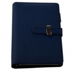 FASHION Pocket Organizer Planner Bőr Filofax napló Notebook Blue I9G9