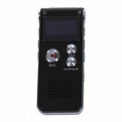1X (újratölthető 8 GB-os 650 órás digitális audio diktafon MP3 Pl V3D6