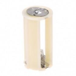 1X (törtfehér hengeres elemtartó adapter 3x1,5 V AA akkumulátorokhoz N8H8)