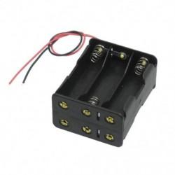 1X (fekete vonórétegek 6 x 1,5 V-os AA-akkumulátorok elemtartó tokjában, huzallal Le N8H2