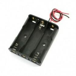 1X (rugós rögzítő fekete műanyag 3 x 1,5 V-os AA elemtartó tokban, W4F8)