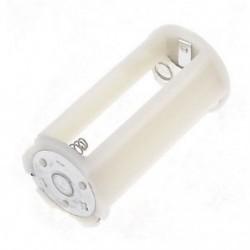 Fehérfehér henger akkumulátor tartó adapter 3x1,5 V AA akkumulátorokhoz A0O7