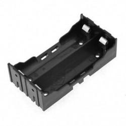 Fekete elemtartó 4 tű 2x18650 újratölthető lítium-ion akkumulátorokhoz Q4A8