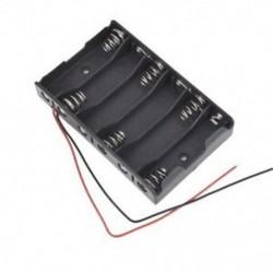 3X (új 6 x 1,5 V AA 2A CELL akkumulátor tartó doboz 9V tok, O2R5