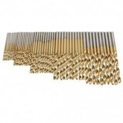 50 db 1 / 1,5 / 2,0 / 2,5 / 3 mm titán bevonatú HSS fúrókészlet G9M1