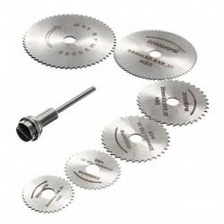 7x HSS kör alakú favágó fűrészlaptárcsák Tüske mini fúró Rotary U6D5-hez