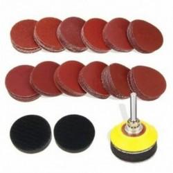 1X (120 db 2 hüvelykes csiszolótárcsa pad, 1/4 hüvelykes szárú hátsó lemezzel és 2PcN6Q9)