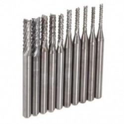 1X (10PZS marók, keményfém gravírozó tippek NYÁK-fúráshoz CNC Rotary Burr 1.3 K6B9