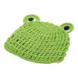 Baby Froglet kötés kalap fotós kellékek 0-6 hónapos újszülött E2H4 X6U6