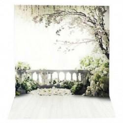 150x220 cm Virágok Fotó Háttér fák kerti tetőtéri esküvői fotózás b Q3B5