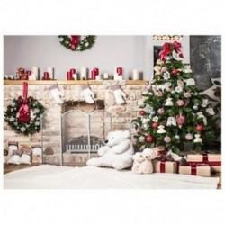 220x150cm-es Karácsonyi háttér stúdió fotózáshoz - D1S4