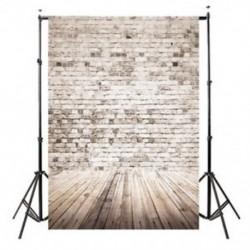 Téglafal és deszka padló háttér stúdió fotózáshoz - H6F1