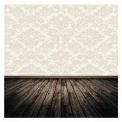 300x300cm-es Tapétás fal - deszka padlós háttér stúdió fotózáshoz - I2B S3L7