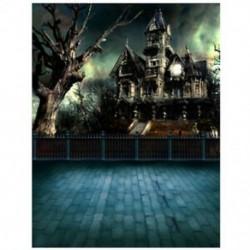 3X (5X7 FT Halloween SCENIC FOTÓ HÁTTÉR HÁTTÉR HÁTTÉR U8J2)