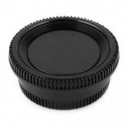 Fekete műanyag kamera burkolat   hátsó lencsesapka a J4A7 J7Q6 digitális tükörreflexes fényképezőgéphez