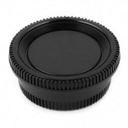 Fekete műanyag kamera burkolat   hátsó lencsevédő sapka a Nikon Digital SLR X4C4-hez
