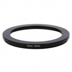 72-58 mm-es kamera lefelé szűrő adapter gyűrű fekete P8N9 V4P7