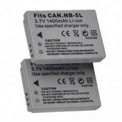 2x 3,7V 1100mAh csere NB-5L akkumulátor csomag Powershot S100, S110, SX Z2O8