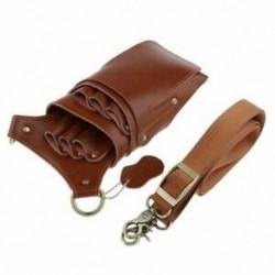 2X (bőr táska állítható hevederes övvel a fodrász tárolásához. V9I7