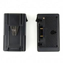 1X (Új, aranyra szerelhető, akkumulátor adapterhez való adapter átalakító lemez D-csappal Por E5A5)