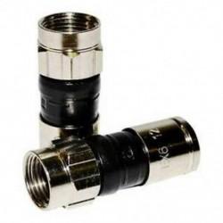 X6xlplus Rg-6 Snap &amp  Seal kültéri kompressziós csatlakozó, Comcast, DTV és Dis F5J6