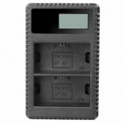LP-E10 töltő (LCD kijelzővel) az EOS Rebel T3 T5 T6 Kiss X50 Kiss X70 Q2V6 típushoz