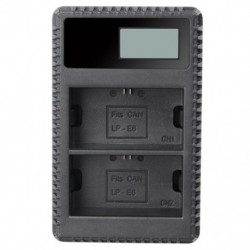 2X (LP-E10 töltő (LCD kijelzővel) az EOS Rebel T3 T5 T6 Kiss X50 Kiss X W9R8 típushoz