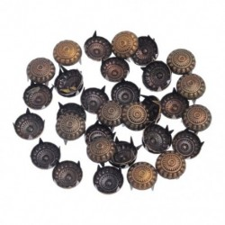 1X (100 darabos bronz tónusú táska, kerek faragású virágtartó, DIY szegecs 11x6.5mm Z9G9)